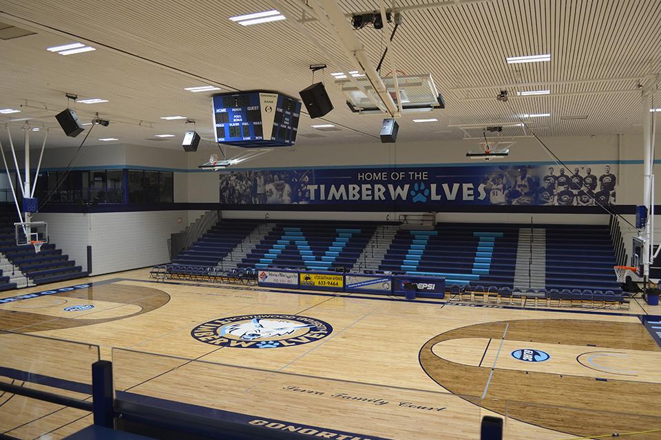The inside of the Bennett Sports Center